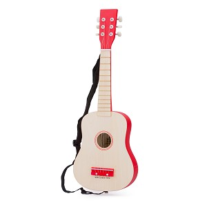 New Classic Toys - Guitare - Naturelle/Rouge