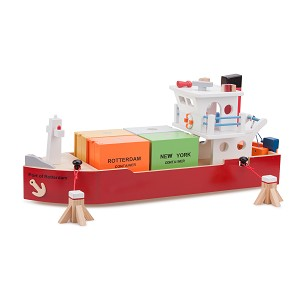 New Classic Toys - Bateau Containers avec 4 Containers