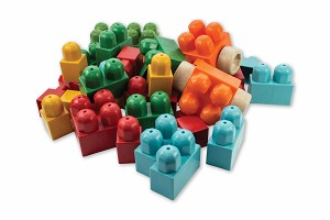 Anbac Toys - Baril de Cubes - 40 pcs.