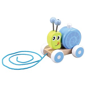 Lelin Toys - Escargot squeaky à tirer