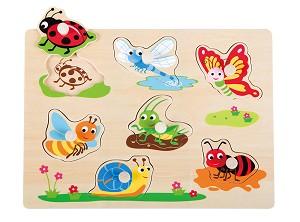 Lelin Toys - Puzzle à boutons - insecte