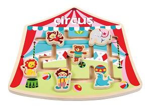 Lelin Toys - Puzzle labyrinthe - cirque- disponible en juin 2017