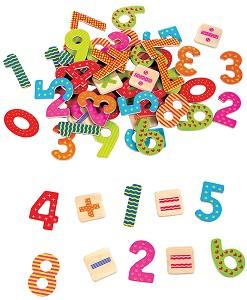 Lelin Toys - Chiffres magnétiques+ signes opérations - 60 pcs
