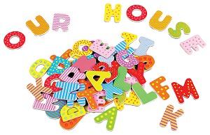 Lelin Toys - Alphabet en Majuscules - 60 pcs magnétiques