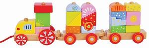 Lelin Toys - Train à tirer cubes - Fantaisie