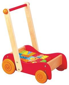 Lelin Toys - Chariot à pousser avec blocs - 30 pcs