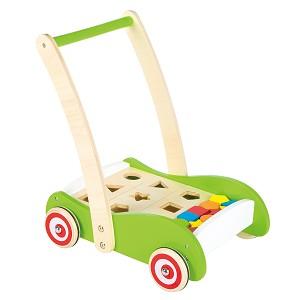 Lelin Toys - Chariot à pousser - des formes avec blocks