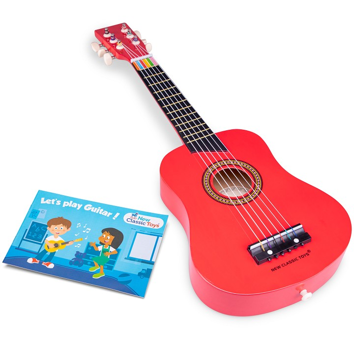 New Classic Toys - Guitare de Luxe - Rouge