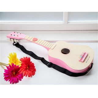 New Classic Toys - Guitare de Luxe - Naturelle/Rose