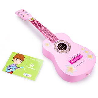 New Classic Toys - Guitare - Rose-Fleurs