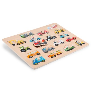 New Classic Toys - Puzzle à Boutons - Véhicules