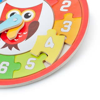 New Classic Toys - Pendule Puzzle - Hibou