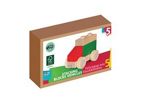 Varis Toys - Blocs à empiler - Véhicules 5 pcs