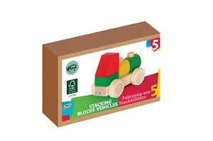 Varis Toys - Blocs à empiler - Véhicules - 5 pcs