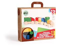 Varis Toys - Blocs à empiler - Véhicules - 13 pcs