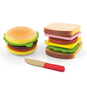 Viga Toys - Hamburger et sandwich - set 11 pcs.