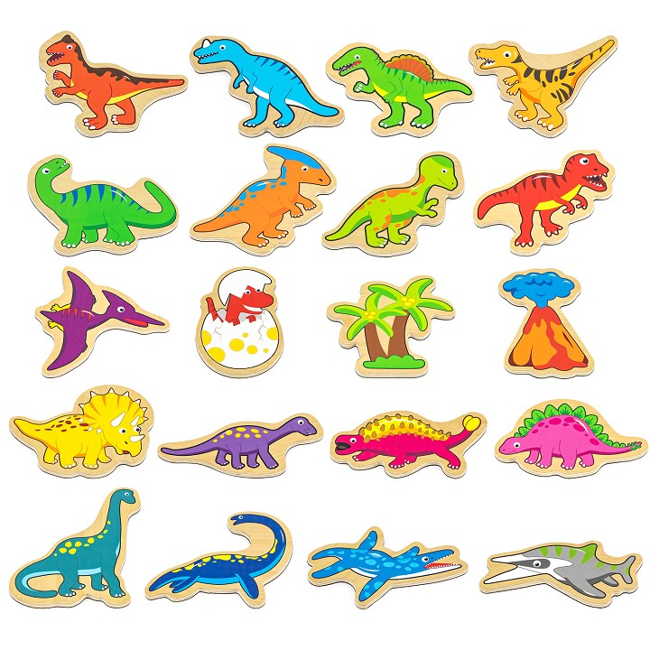 Viga Toys - Dinosaures Magnétiques - 20 pieces