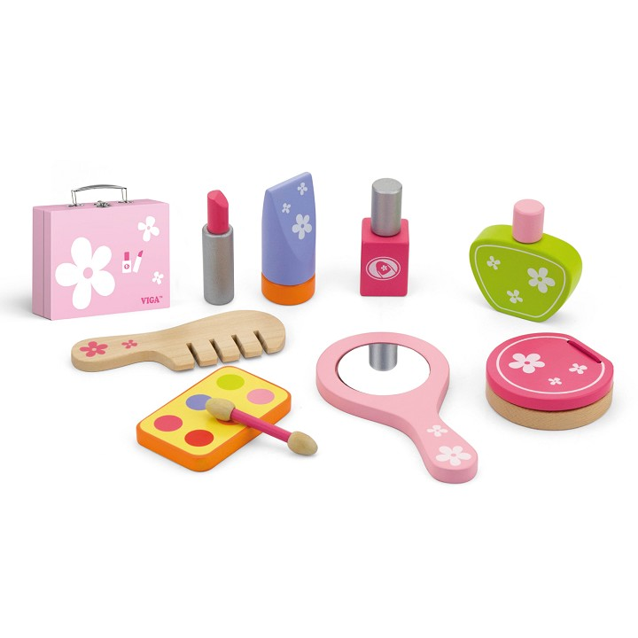 Viga Toys - Valise de Maquillage -10 pieces