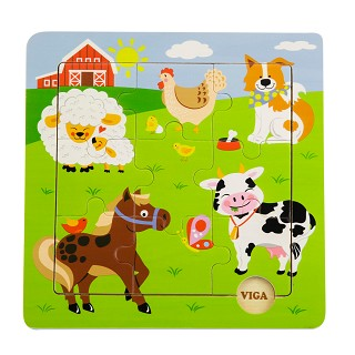 Viga Toys - Discovery puzzle - ferme
