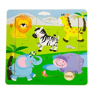 Viga Toys - Discovery puzzle - animaux sauvages