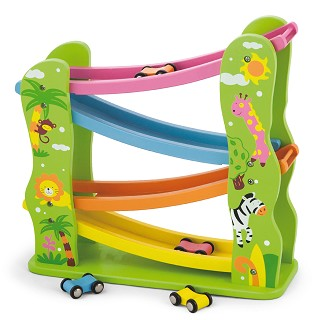 Viga Toys - Toboggan de voitures - jungle