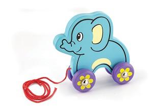 Viga Toys - Eléphant à tirer