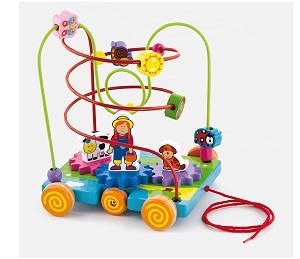 Viga Toys - Circuit de perles à roulette - ferme