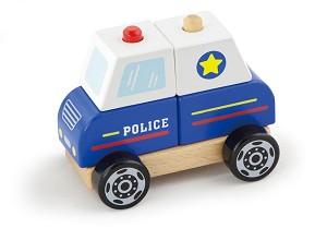 Viga Toys - Voiture de police - empilable