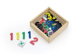 Viga Toys - Chiffres magnétiques + signes opérations - 37 pcs.