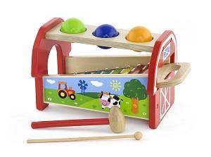 Viga Toys - Jeux de balles marteau et métallophone
