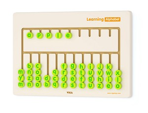 Viga Toys - Jeu mural - apprendre l' alphabet