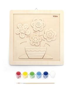Viga Toys - Kit de peinture - fleur