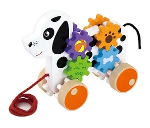 Viga Toys - Chien avec engrenages à tirer