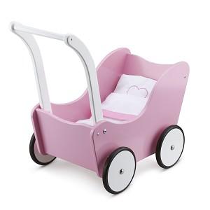 New Classic Toys - Landau de Poupée avec Literie - Rose